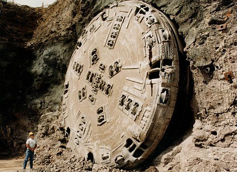 Flickr Photo Download: Tunnel-boring machine at Yucca Mountain reaches daylight
