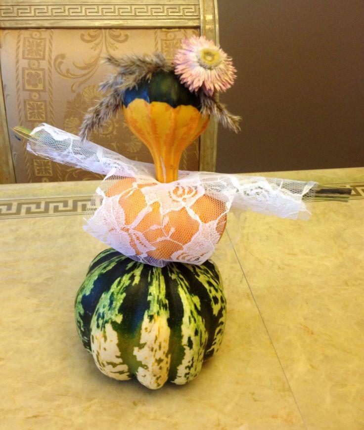 Little lady - Thanksgiving pumpkin decoration