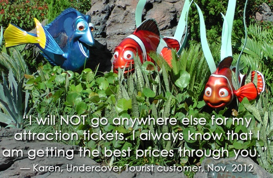 """I will not go anywhere else for my attraction tickets."" -Karen"