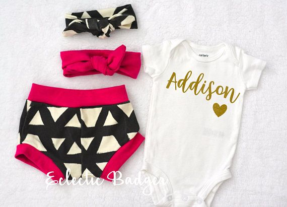 98e197c9c Baby girl outfit Organic baby clothes Coming home outfit summer Baby ...