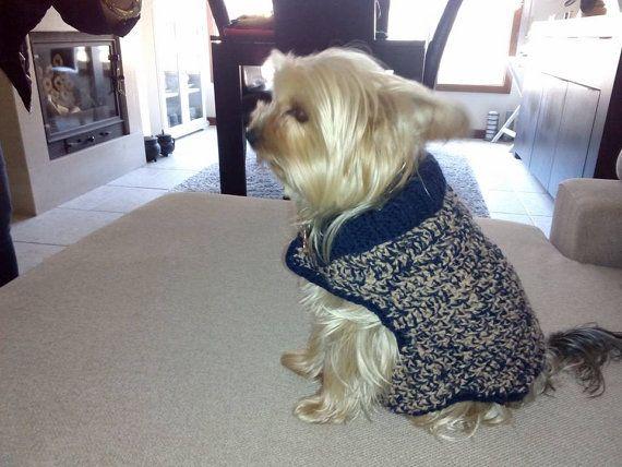 Jersey de lana en ganchillo para tu mascota by CraftyRoad on Etsy
