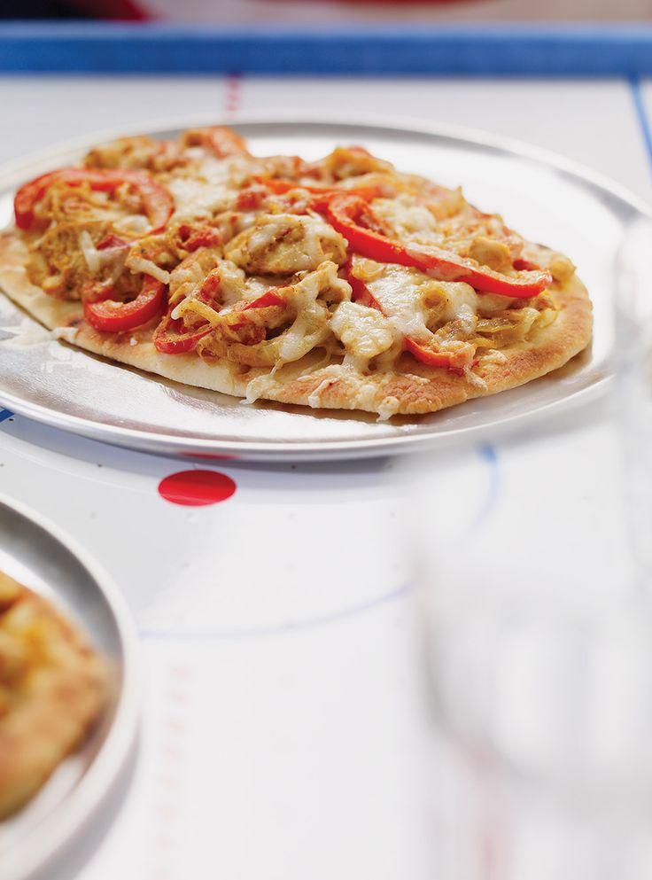 Recette de Ricardo: Pizza sur pain naan