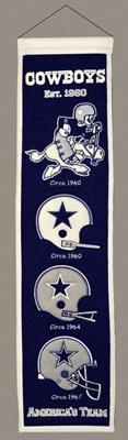 Dallas Cowboys Heritage Banner $29.99