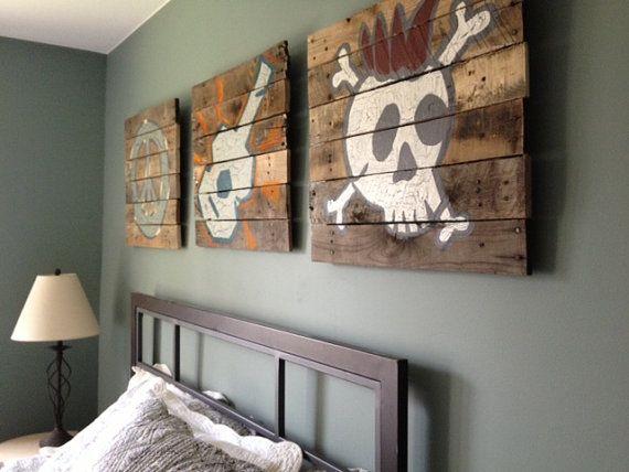 Wall Decor 20x20 : Custom pallet art piece wall rustic