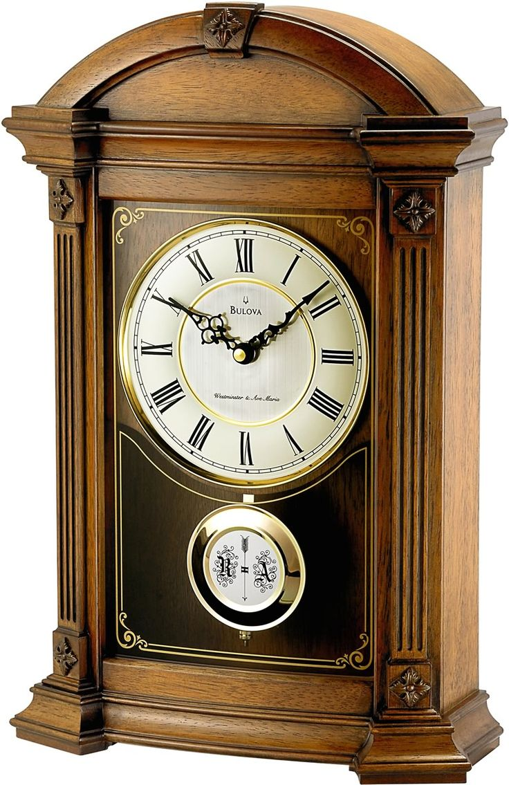 Bulova Clocks Allerton Mantel Clock Old World Walnut B7653