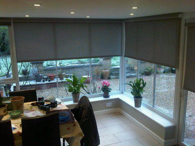 Marvelous Large roller blinds for sunroom in Marle Walnut from Louvolite