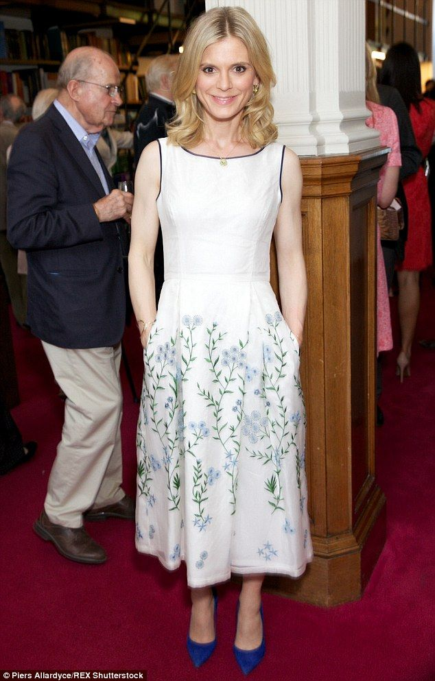Pretty as a picture (book): Emilia Fox looked elegant in a floral dress as she attended th...