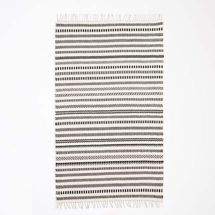 Contemporary Handwoven Rug, Linen & New Zealand Wool