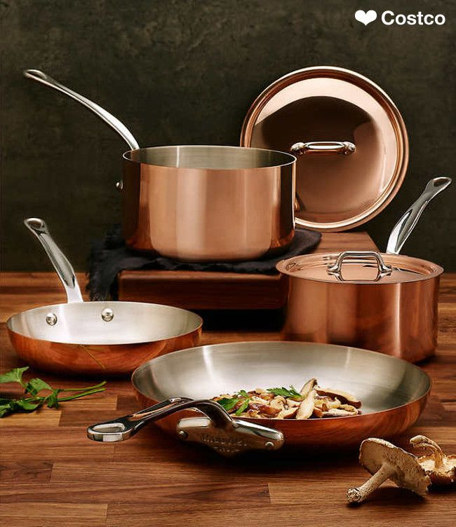 Since 1830, Mauviel has manufactured the highest quality cookware praised by both professional chefs and household cooks. Mauviel cookware is manufactured in France and is unsurpassed in quality and design.  Each piece of Mauviel Heritage 150S is manufactured from 90% copper and 10% stainless steel, which creates the ultimate cooking performance and provides unsurpassed cooking control.