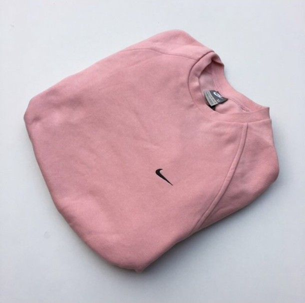 Sweater: pink nike vintage crewneck jumper pink dusty pink