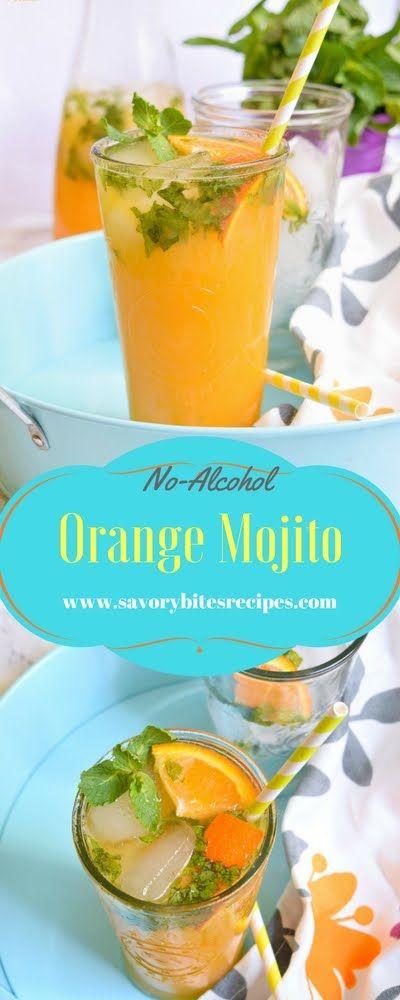 Orange Mojito Recipe No Alcohol - Savory Bites Recipes