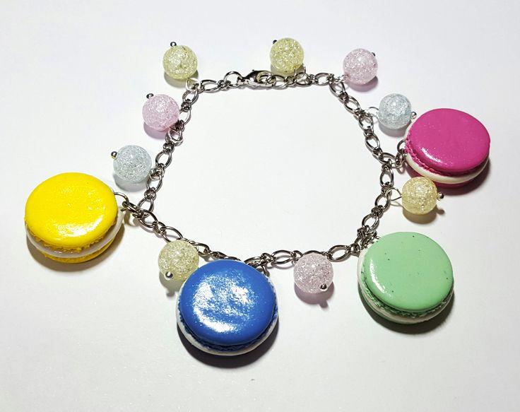 Макарунчики))) (полимерная глина, стеклянные бусины)