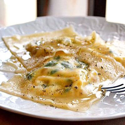 The Best Healthy Recipes from Around the World: Spinach & Sausage Ravioli