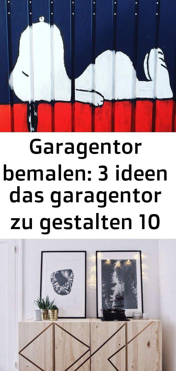 Garagentor bemalen 3 ideen das garagentor zu gestalten 10 ...