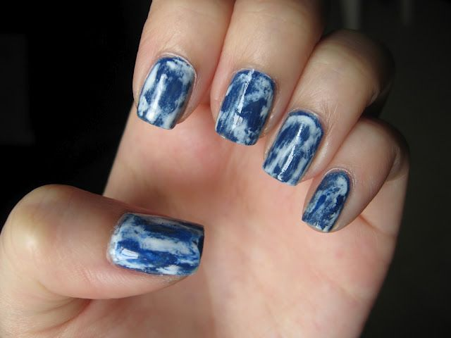 Acid Wash Denim Nails