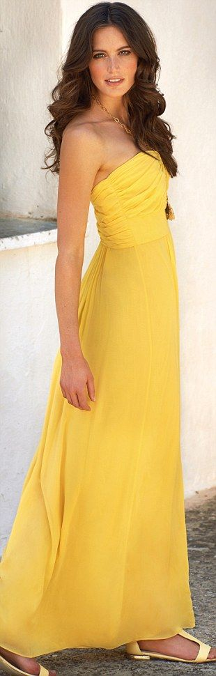 Different shades of yellow dresses
