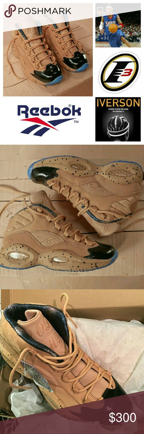 Allen Iverson x Mol Question? Limited Edition G Jg CNN nk Reebok Shoes Sneakers