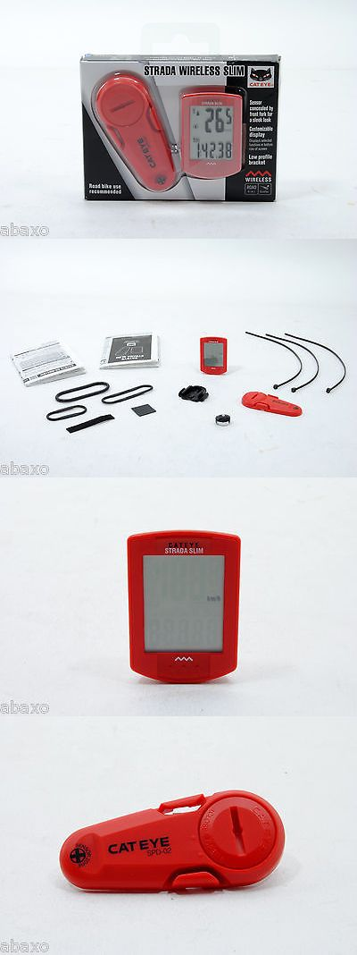 Cycle Computers and GPS 30108: Cateye Strada Slim Wireless Cycling Computer Cc-Rd310w: Red -> BUY IT NOW ONLY: $48.87 on eBay!