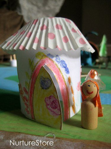 Another possibility for fairy houses!Waldorf Steiner, Fairies Crafts, Crafts Plays, House Activities, Fairy Houses, Fairies Land, Fairies House, Kids, De Fée