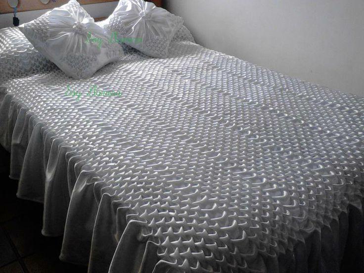 sobre camas drapeado