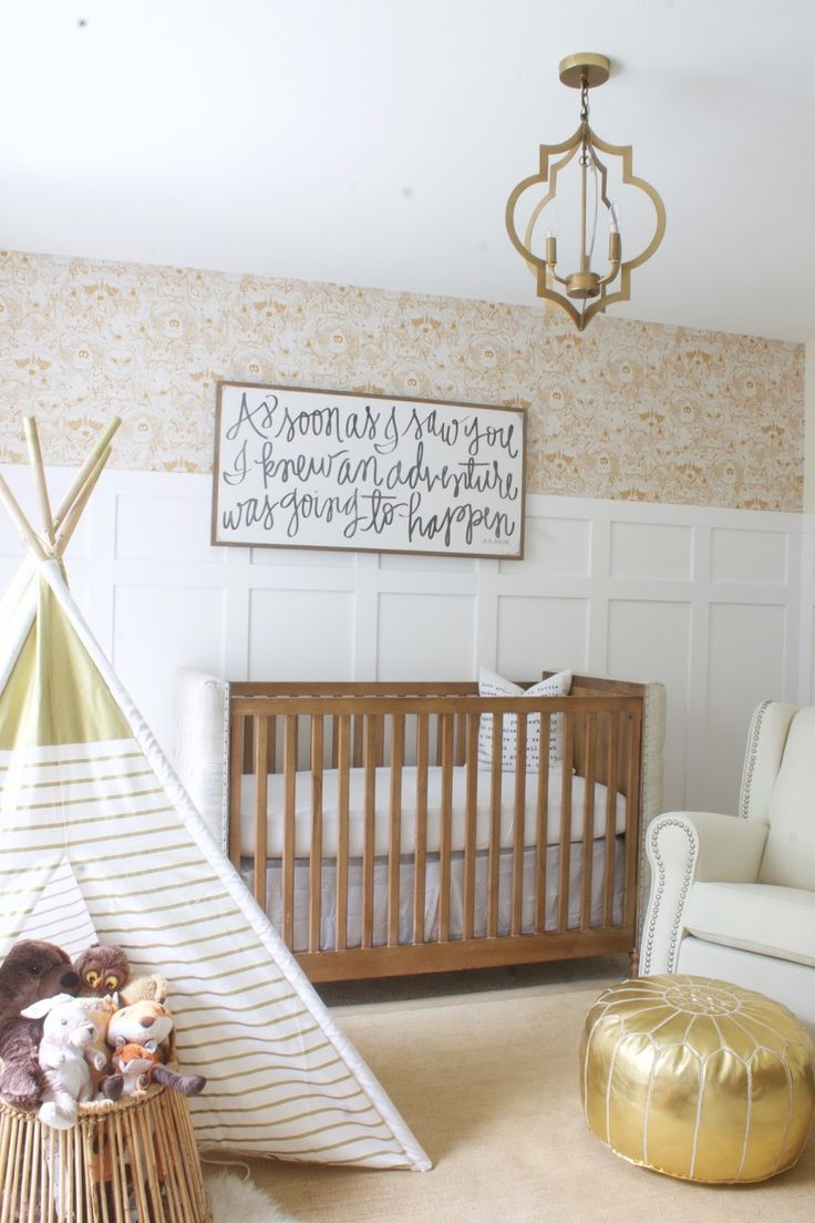 This beautiful gender-neutral nursery is perfection in every nook.