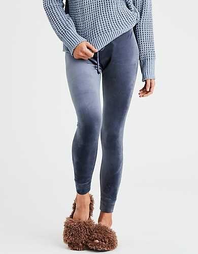 f4f33eb445f33 AEO Plush Velour Sweater Legging - | 23 | Velour leggings, Sweaters ...