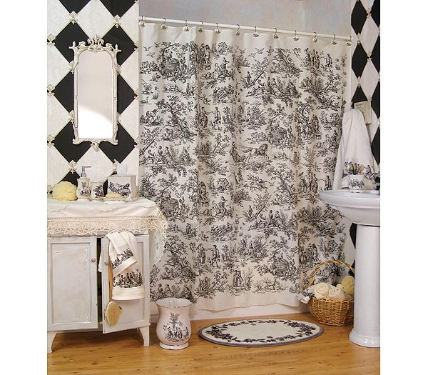 I Love The Curtain Pattern For The Master Bathroom, But Bigger So Its Not  As. French Bathroom DecorFrench Country BathroomsBathroom ... Part 96