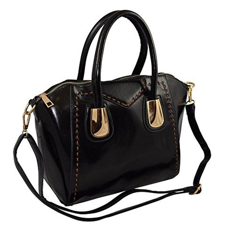 Patzino Exclusive Collection, Women's PU Leather Small Dome Satchel Handbag