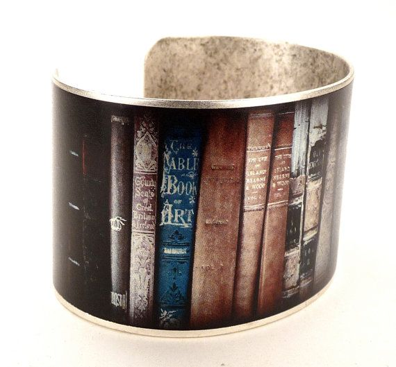Book Bracelet, Vintage Book Photograph, Book Jewelry, Gifts for Readers on Etsy, $36.00