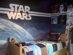 Star Wars Bedroom Mural   Will Have To Get Uncle Nick On The Case With This  One Thomad!