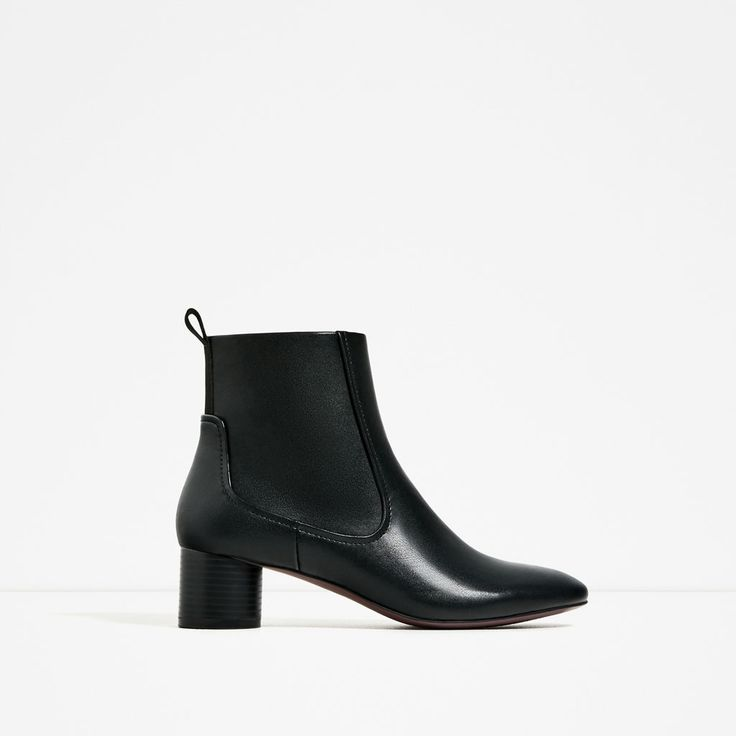 Image 2 of BLOCK HEEL POINTED ANKLE BOOTS from Zara
