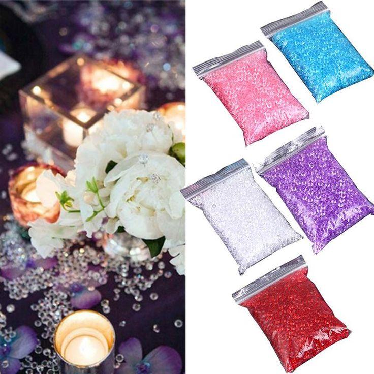2000pcs 4.5mm Wedding Artificial Rhinestone Crystal Diamond Confetti Party Decoration Casamento Mariage