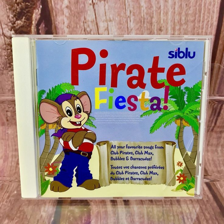 Siblu Pirate Fiesta music CD Kids Children's Toddlers Songs 14 Tracks party hols