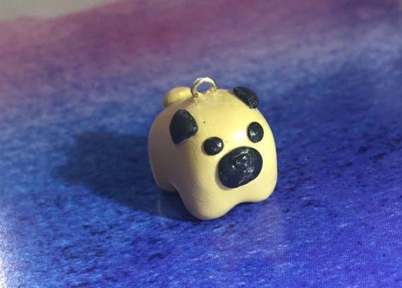 Mini Pug Charm by IcyBubbleCreations on Etsy