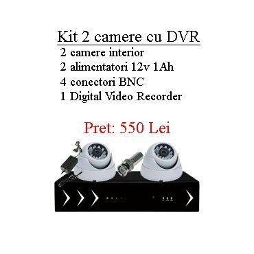 Kit supraveghere 2 camere CMOS 700 lini tv si Digital Video Recorder. Gasesti aici informatii tehnice complete despre acest kit supraveghere!