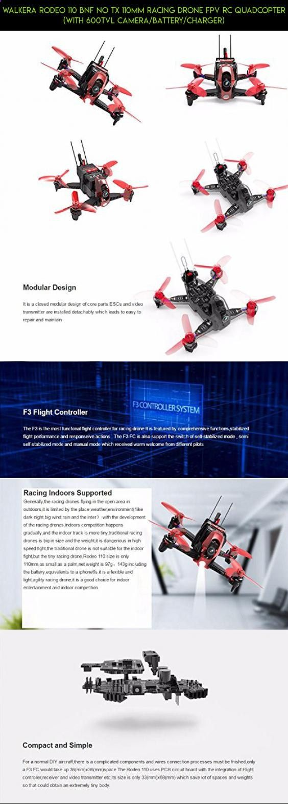 Walkera Rodeo 110 BNF No TX 110mm Racing Drone FPV RC Quadcopter (With 600TVL Camera/Battery/Charger) #drone #kit #walkera #racing #110 #plans #camera #fpv #tech #shopping #products #technology #gadgets #parts