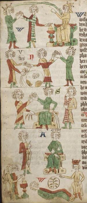 Eike <von Repgow>   Heidelberger Sachsenspiegel — Ostmitteldeutschland, Anfang 14. Jh. Cod. Pal. germ. 164 Folio 4v