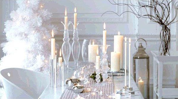 brancoprata decoracao:decoracao natal branco prata