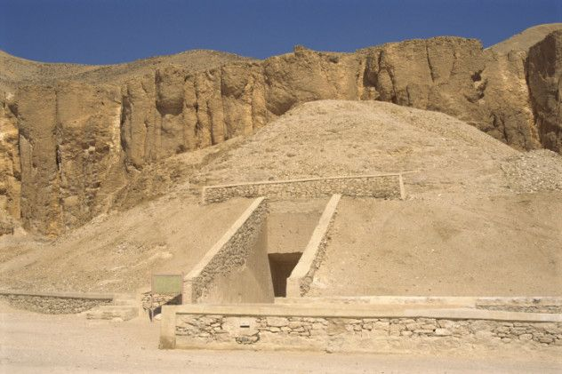 In the Valley of the Kings, the same necropolis where King Tutankhamun's remains were discovered, a 3,000-year-old mystery came to light. In 2005, a plain limestone chamber was accidentally discovered underneath some ancient workers' huts. It housed 28 enormous jars and seven coffins.
