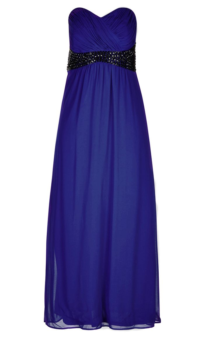 City Chic - BEJEWELLED BELLE COLOUR MAXI DRESS - Women's Plus Size Fashion