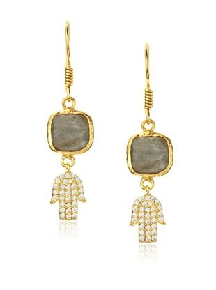 54% OFF Grand Bazaar Labradorite Hamsa Earrings