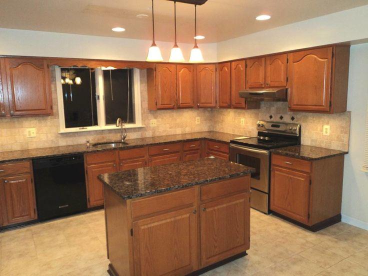 Amazing Images Of Kitchen Decoration Design Ideas Using Dark Brown Wood  Kitchen Island: Cool Picture Of Small L Shape Kitchen Decoration Using  Black Granite ... Part 43