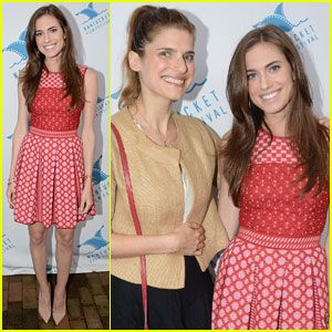 Allison Williams & Lake Bell: Nantucket Film Festival Friends!