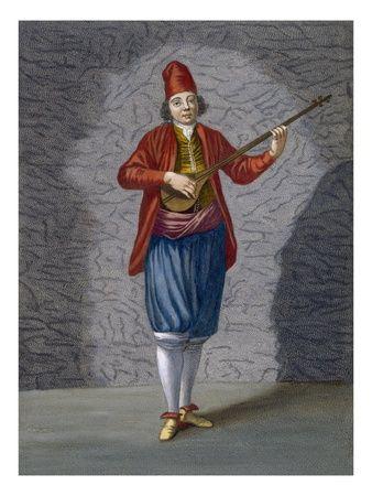 Musician of the Greek Islands - Jean Baptiste Vanmour Giclée Print #Bouzouki