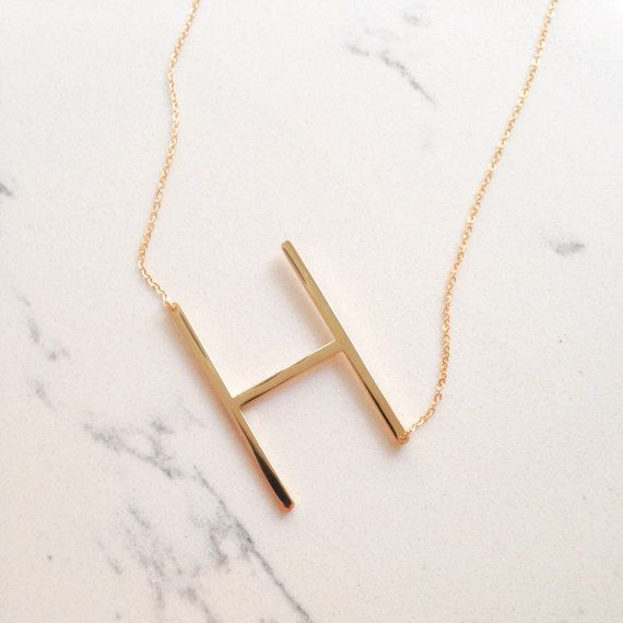 initial necklace // letter // alphabet // by gigglosophy on Etsy