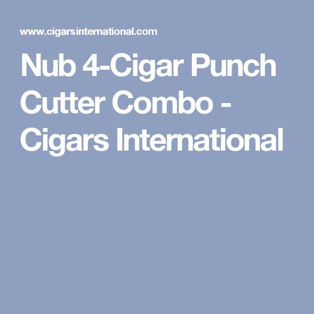 Nub 4-Cigar Punch Cutter Combo - Cigars International