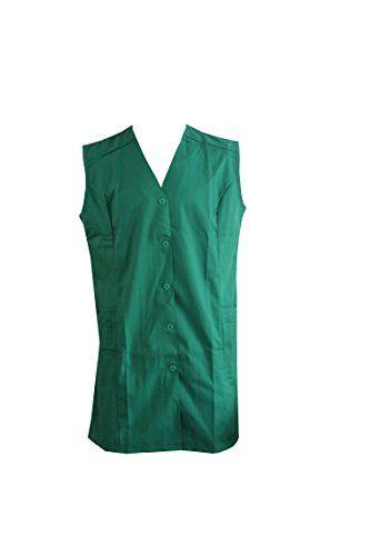 Damen Kasack Gr 42 / 65 % Polyester 35 % Baumwolle Kittel Arbeitskittel