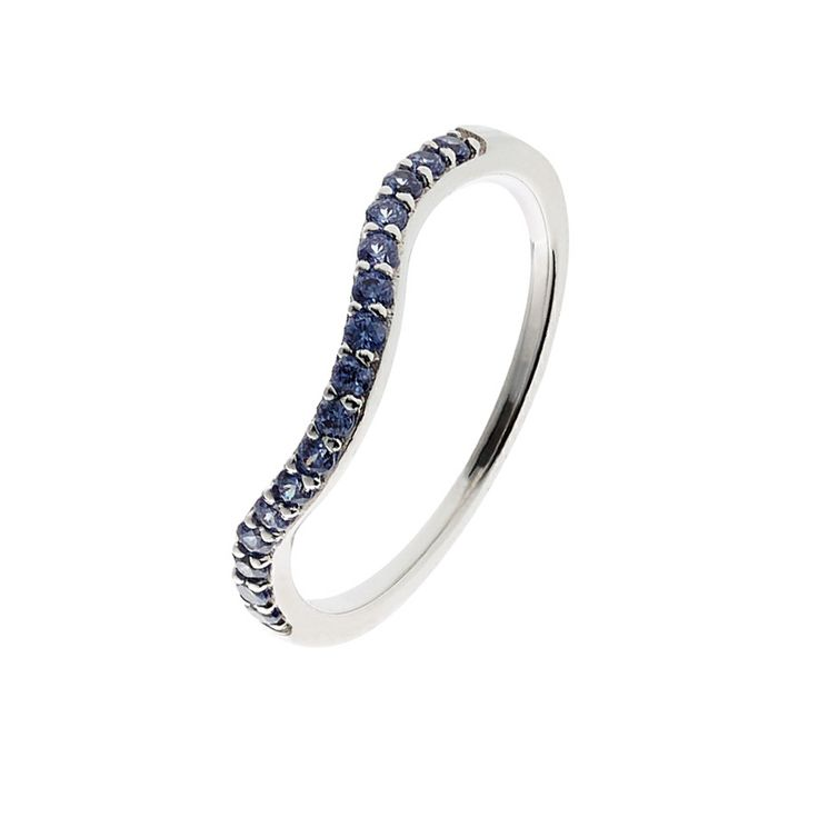 Oxette Sterling Silver 925 Ring with blue zircons - Available here http://www.oxette.gr/kosmimata/daktulidia/ster.silver.ring-tanzanite-cz-639l-1/    #oxette #OXETTEring #jewellery
