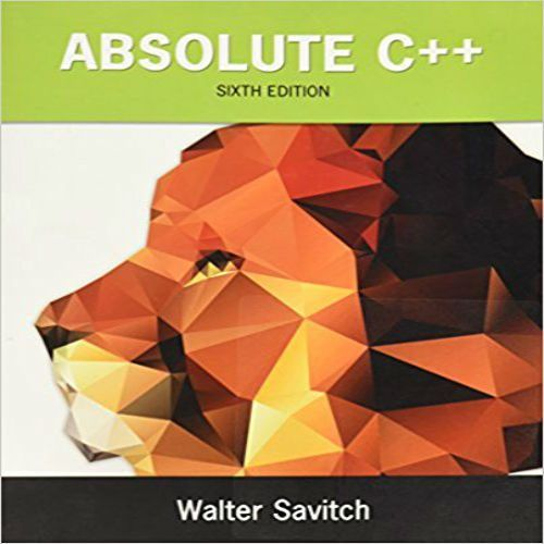 absolute c++ walter savitch pdf