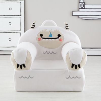 Our Executive Fuzzy Pet Nod Chair is the ideal frameless seat for kids.  Not only are they slightly larger than the original Nod Chair, but now they're easier than ever to assemble.  Featuring a charming Yeti design by artist Michelle Romo, each chair can be personalized with a child's name (up to 12 letters long).  The thread color is carefully chosen to best showcase the name on each style of fabric.  Back pocket is ideal for book storage.